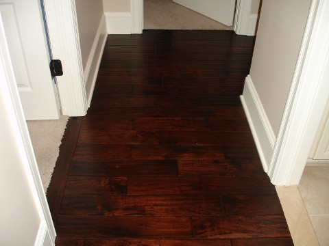 Prefinished wood floor installation